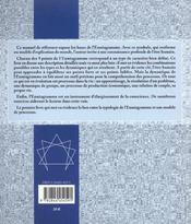 Manuel De L'Enneagramme (Le) - 4ème de couverture - Format classique