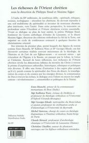 Richesse De L'Eglise D'Orient - 4ème de couverture - Format classique
