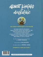 Arnest Ringard et Augraphie - 4ème de couverture - Format classique