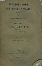 Oeuvres. Traduite Par C.L.F. Panckoucke. Annales. Tome Deuxieme. - Couverture - Format classique