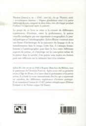 Thymus - 4ème de couverture - Format classique