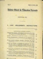 Bulletin Officiel De L'Education Nationale - Couverture - Format classique