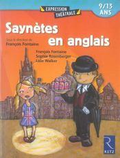 Saynetes en anglais ; 9/13 ans - Intérieur - Format classique