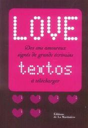 Love textos ; love logos - Intérieur - Format classique