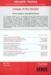 Revue Champs Visuels N.14 ; L'Image Et Les Musees - 4ème de couverture - Format classique