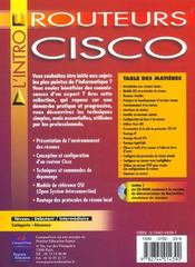 Routeurs Cisco Reseaux & Securite - 4ème de couverture - Format classique