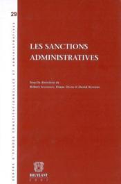 Les sanction administratives - Couverture - Format classique