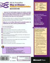 Mise En Reseau Notions Fondamentales 3 Edition - 4ème de couverture - Format classique