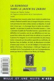 La Sunoogo dans le jaden du zabide ; la joie dans le jardin de l'honnête homme - 4ème de couverture - Format classique