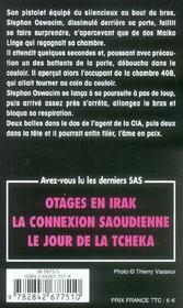 SAS t.158 ; tuez Iouchtchenko ! - 4ème de couverture - Format classique