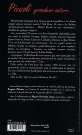 Piccoli Grandeur Nature - 4ème de couverture - Format classique