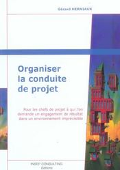 Organiser La Conduite De Projet (édition 2005) - Intérieur - Format classique