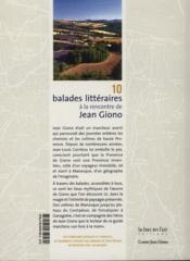 10 balades littéraires à la rencontre de Jean Giono t.1 ; manoque-des-plateaux - 4ème de couverture - Format classique
