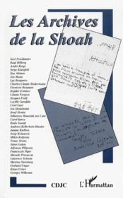 Les archives de la Shoah - Couverture - Format classique