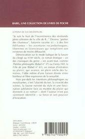 Le portier des chartreux - 4ème de couverture - Format classique