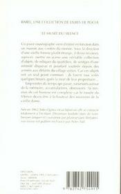 Le Musee Du Silence Babel 680 - 4ème de couverture - Format classique