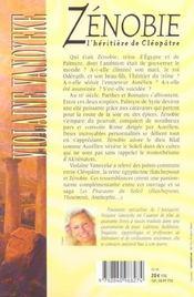 Zenobie ; l'heritiere de cleopatre - 4ème de couverture - Format classique