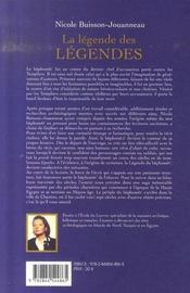 La Legende Des Legendes ; Memoire D'Un Baphomet - 4ème de couverture - Format classique