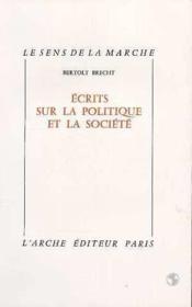 Ecrits sur la politique et la societe - Couverture - Format classique