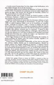 Vauban ; de la gloire du Roi au service de l'Etat - 4ème de couverture - Format classique