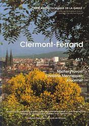 Carte Archeologique De La Gaule T.63/1 ; Clermont-Ferrand - Intérieur - Format classique