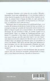 Heidegger Et L'Essence De L'Homme - 4ème de couverture - Format classique