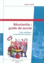 Reunionite : Guide De Survie. Pour Ameliorer La Qualite Des Reunions - Intérieur - Format classique