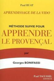 Methode Suivie Pour Apprendre Le Provencal - Couverture - Format classique