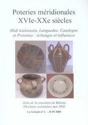Poteries Meridionales Xvie Xxe Siecles - Intérieur - Format classique