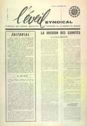 Eveil Syndical (L') N°131 du 01/11/1960 - Couverture - Format classique