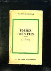 Poesies Completes. - Couverture - Format classique