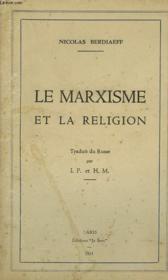 La Marxisme Et La Religion - Couverture - Format classique