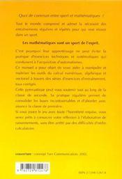 Gymnastique Mathematique 2nde Exercices Corriges - 4ème de couverture - Format classique