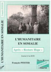 L'humanitaire en Somalie - Couverture - Format classique