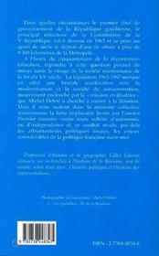 Michel Debre Et L'Ile De La Reunion 1959-1967 - 4ème de couverture - Format classique