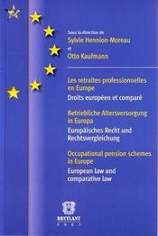 Retraites professionnelles en Europe - Intérieur - Format classique