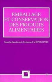 Emballage Et Conservation Des Produits Alimentaires - Couverture - Format classique