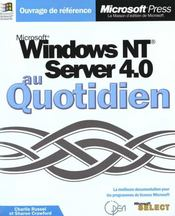 Microsoft Windows Nt Server 4.0 Au Quotidien - Intérieur - Format classique