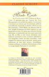 Le chateau de monte-cristo ; trois jours chez alexandre dumas - 4ème de couverture - Format classique