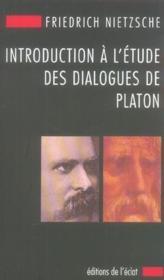 Introduction A L'Etude Des Dialogues De Platon - Couverture - Format classique