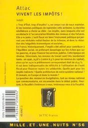 Vivent Les Impots ! - 4ème de couverture - Format classique