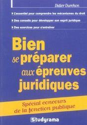 Bien Se Preparer Aux Epreuves Juridiques - Intérieur - Format classique