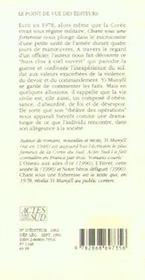 Chant Sous Une Forteresse - Recit Traduit Du Coreen - 4ème de couverture - Format classique