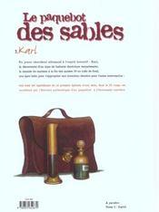 Le Paquebot des sables, tome 1 : Karl - 4ème de couverture - Format classique