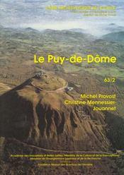 Carte Archeologique De La Gaule T.63/2 ; Le Puy De Dôme - Intérieur - Format classique
