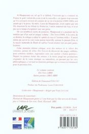 Uvres Poetiques Completes. <I>Des Vers </I>Et Autres Poemes - 4ème de couverture - Format classique