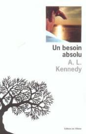 Un Besoin Absolu - Couverture - Format classique