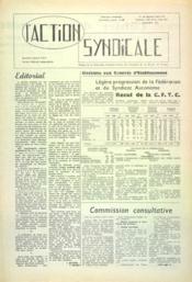 Action Syndicale (L') N°9 du 01/12/1960 - Couverture - Format classique