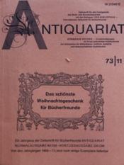 Antiquariat N°11 - Couverture - Format classique