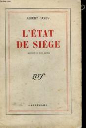 L'Etat De Siege. - Couverture - Format classique